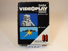 CARTUCCIA GIOCO 11 ROBOT-JAGD + TORPEDO SABA VIDEOPLAY FAIRCHILD CHANNEL F BOXED