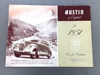 1951 Austin A70 A90 Atlantic A40 Sports Vintage Car Sales Brochure Folder