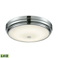 ELK Lighting Garvey 1-Light Round Flush, Chrome/Opal, LED, Large - FML4750-10-15