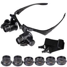 10/15/20/25x Lupenbrille LED Vergrößerungsglas Lupen Uhrmacher Juwelier Brille