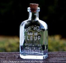 EAU DE FLEUR Crystal Clear Glass Corked Apothecary Style Potion Bottle 45ml