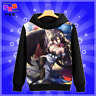 OVERLORD Japanese Anime Sweatshirt Pullover Hoodie Black Cosplay S-2XL #P46