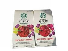 Starbucks Via Instant Very Berry Hibiscus refresher lot x 2 =12 Packet