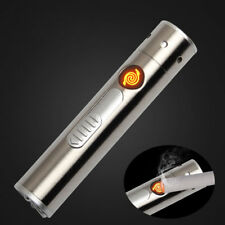 Multi-function Outdoor Lighter Laser Torch Flashlight Windproof Rechargeable USB