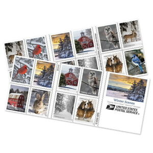 USPS New Winter Scenes Booklet of 20