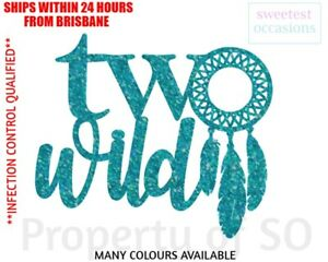 TWO WILD with dreamcatcher Second birthday cake topper