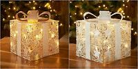 New Christmas Decoration Light Up Glitter Parcel