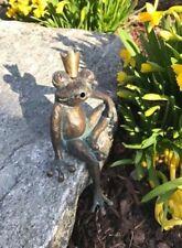 Bronzefigur Froschkönig Heiner 13cm Bronze Gartenfigur Wasserspeier Rottenecker
