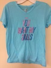 Under Armor Light Blue Girls Youth Large You Want My Skills T-Shirt