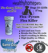 100 CAPSULES RAPID Flea Killer Control Capsules Dogs 25-125 Lbs.57Mg FAST KILLER