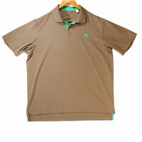 Adidas Men's Brown and Green Golf Polo Shirt - Size Large