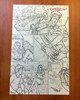 PAPERCUT 2 issue 3 original penciled inked 11x17 comic book artwork pg20 2016 NM