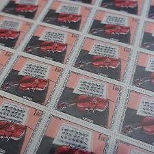 FEUILLE SHEET TIMBRE TABLEAU VIOLON MUSIQUE N°1459 x25 1965 NEUF ** LUXE MNH