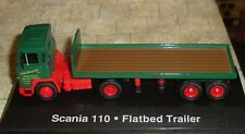 EDDIE STOBART - SCANIA 110 SUPER FLATBED TRUCK  - 1:76 - BOXED