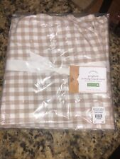 New Pottery Barn Beige & White Gingham Cotton Ironing Board Cover