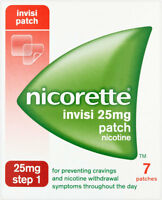 Nicorette Nicotine 25mg Invisible Patches Step 1 (7)