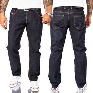 Rock Creek Designer Herren Jeans Hose Comfort Fit Dunkelblau Denim RC-2165 NEU