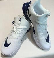 NEW Nike Zoom Shift TB Low Basketball Shoes White Black 942802-104 Mens Sz 17.5