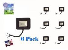 iLett 6 Black Pack LED Flood  Light 10W 110V 800lm ULTRA SLIM Cold White