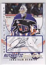 2007 07-08 Between The Pipes Autographs #AJBE Jonathan Bernier