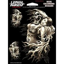 Lethal Threat Moto Voiture Planche Casque Autocollant Sticker - Reaper Girl