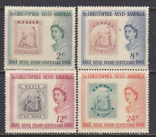 ST KITTS  138-42 STAMP CENTENARY  MINT NH