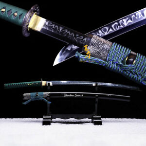 Battle Ready Clay Tempered Japanese Katana T10 Steel Choji Hamon Blade Sword New