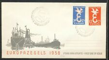 FDC E-35 - EUROPA 1958 - ONBESCHREVEN MET OPEN KLEP  (Potloodnummertje)    Bn629