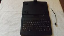 Keyboard Case For 7 inch Tablet Black PVU Cover