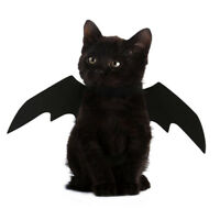 Animal Pet Dog Cat Bat Vampire Halloween Black Fancy Dress Costume Outfit Wings