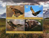 Madagascar 2018 CTO Eagles Eagle 4v M/S Birds of Prey Stamps