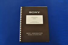 Vintage Sony C37-FET Microphone Technical Manual Operating Instruction Guide