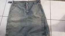 Marithe Francois Girbaud Womens Denim Skirt Size 26 faded jean skirt GUC