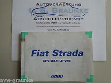Betriebsanleitung Handbuch Fiat Strada (178E) 603.50.379 Deutsch