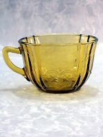 Vintage Indiana/Federal Depression Glass Yellow-Amber Madrid Pattern Tea Cup