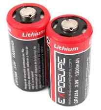 Exposure CR123A Lithium Batteries (pair) 3.0v 1400mAh (disposable)
