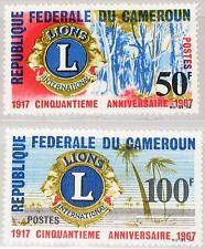 CAMEROUN KAMERUN 1967 497-98 455-56 50th Ann Lions Intl. Landscapes Emblem MNH