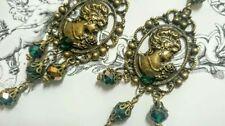 Handmade Emerald Drop/Dangle Fashion Earrings