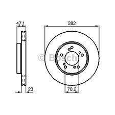 ORIGINAL BOSCH Bremsscheiben Satz Honda CR-V HR-V Bj.94- - 0 986 478 667