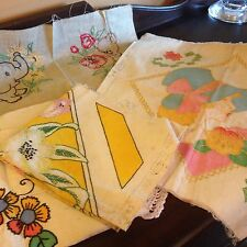 Vintage 1920s Lot Of Vogue Needlecraft Embroidery Samplers Apron Pillows Embroid