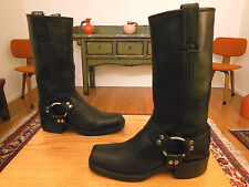 Vtg FRYE Women's Black Leather Harness, Biker Boots  6M  USA!