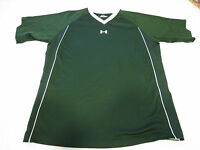 Under Armour UA green T shirt YLG L Youth athletic Boys active EUC@