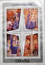 GHANA 1980 Block 86 S/S 740 Christmas Weihnachten Fra Angelico Paintings MNH