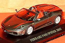 Ferrari F430 araignée 2005 foncé argent gris métallique 1:43 IXO FER019