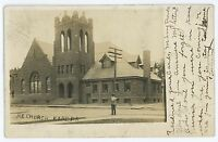 RPPC Methodist Church KANE PA McKean County Pennsylvania Real Photo Postcard 1