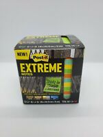 3M Post-it Extreme Notes 3x3 Orange/Green/Yellow/Mint 12 Pads Sticky