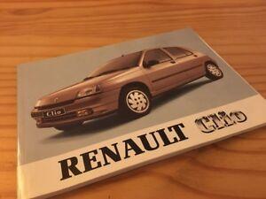 Renault Clio manuel conducteur notice utilisation entretien livret bord éd. 91