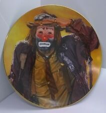 "Collector 8.5"" Plate Emmett""Famous Clown"" By Robert Blottiaux Stafford Co. 1981"