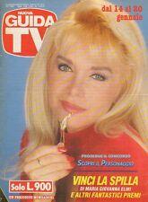 rivista NUOVA GUIDA TV ANNO 1990 NUMERO 2 MARIA GIOVANNA ELMI