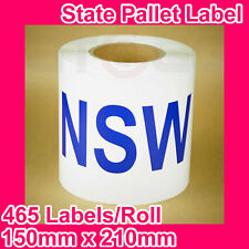 10 Rolls of State Label/Pallet Label - NSW (150mm x 210mm, 4650 Labels in total)